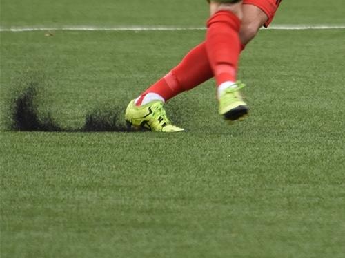 Geen rubber op sportveld