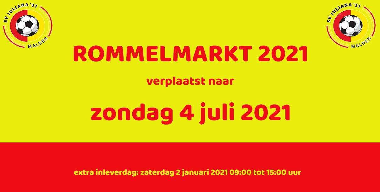 Rommelmarkt 2021 op 4 juli 2021